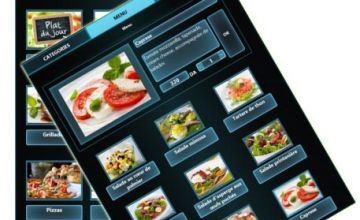 Menu de restaurant sur tablette